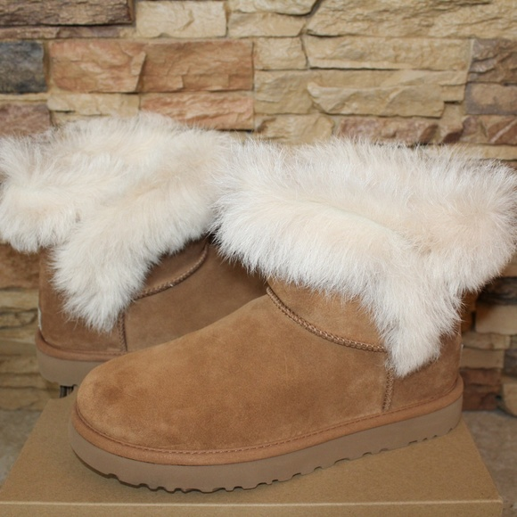 UGG MILLA MINI Toscana Fluff Suede Shearling Boots Boutique